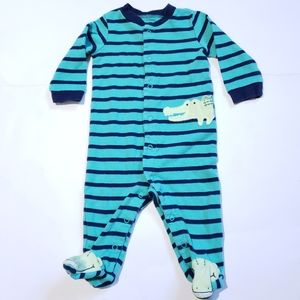 3-6M Alligator Onesie Carter's | Turquoise Footie